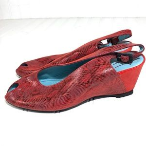 Thierry Rabotin wedge sandal peep toe 7